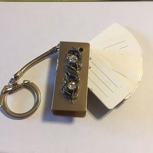 Vintage address book keychain